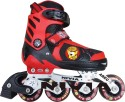 Nivia Cat Club In-Line Skates - Size 31 - 34 Euro - Black, Red