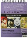 Daler-Rowney Mixed Media Spiral A4 Sketch Pad - White, 30 Sheets