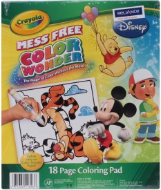 Crayola Wonder Colouring Sketch Pad - Multicolor, 18 Sheets