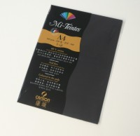 Canson Mi-Teintes A4 Colour Sheets 160gsm - Black 425 Sketch Pad (Black, 5 Sheets)