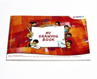 Prahaas Drawing Book With Butter Paper For Kids Sketch Pad (Orange, Red, 44 Sheets)