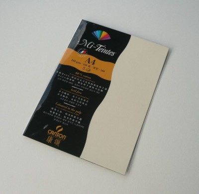 Canson Mi-Teintes A4 Colour Sheets 160gsm - Pale Yellow 101 Sketch Pad (Pale Yellow, 5 Sheets)