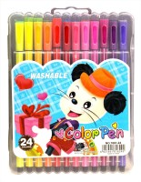 Pigloo Color Pens With Washable Inks Bullet Type Nib Sketch Pens (Set Of 1, Multicolor)