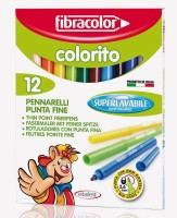 Fibracolor Colorito Super Fine Nib Sketch Pens  With Washable Ink (Set Of 1, Multicolors)