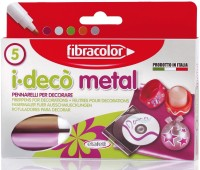 Fibracolor Metal Color Fine Nib Sketch Pens  With Washable Ink (Set Of 1, Multicolor)