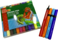 Camlin Sketch Brush Tip Nib Sketch Pens (Set Of 1, Assorted)