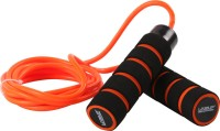 Liveup Weight Skipping Rope (Black, Orange)