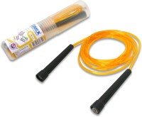 Vinex Vinex Jumping Rope - Premium (PVC, Transparent Yellow) Freestyle Skipping Rope (Yellow, Pack Of 1)