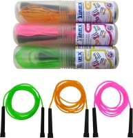 Vinex Vinex Jumping Rope - Premium (PVC, Pack Of 3 Pcs) Freestyle Skipping Rope (Yellow, Green, Pink, Pack Of 3)