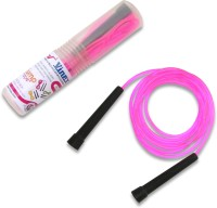 Vinex Vinex Jumping Rope - Premium (PVC, Transparent Pink) Freestyle Skipping Rope (Pink, Pack Of 1)