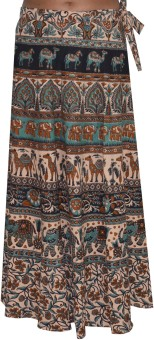 Pezzava Printed Women's Wrap Around Skirt - SKIE39H9BYNPA2QG
