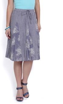 Studio West Striped, Printed Women's Regular Skirt