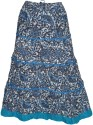 Indiatrendzs Paisley Women's A-line Blue Skirt