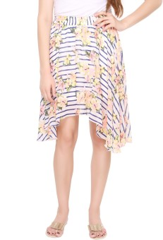 Lemon Chillo Floral Print Women's A-line Skirt