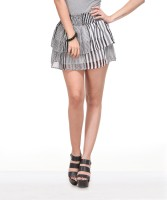 Yepme Striped Women's Layered Skirt