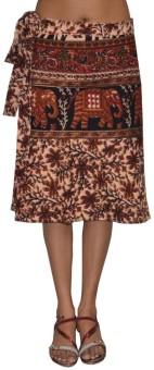 Pezzava Printed Women's Wrap Around Skirt - SKIE355YEZAN57MH