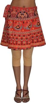 Pezzava Printed Women's Wrap Around Skirt - SKIE43Z36HGCU9JW