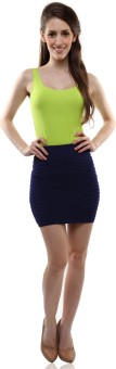 Miss Chase Solid Women's Pencil Skirt