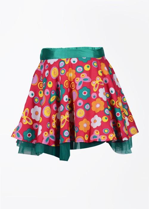 Nauti Nati Printed Girl's A-line Skirt