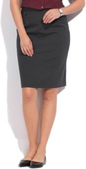 Allen Solly Solid Women's Straight Skirt