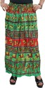 Indiatrendzs Animal Print Women's A-line Green Skirt