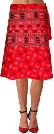Sttoffa Self Design Women's Broomstick Skirt
