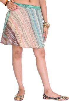 Exotic India Striped Women's Wrap Around Skirt