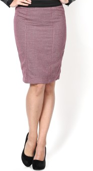 Kaaryah Checkered Women's Pencil Skirt