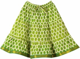 Lil'posh Floral Print Girl's A-line Skirt