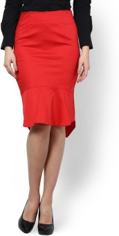 Kaaryah Solid Women's Pencil Skirt - SKIE5H99ZPUHVWSX