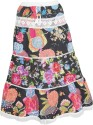 Indiatrendzs Floral Print Women's A-line Multicolor Skirt