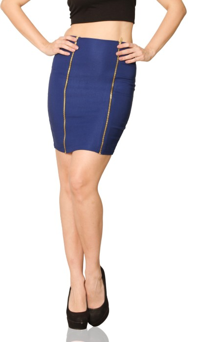 Miss Chase Solid Women's Bodycon Skirt