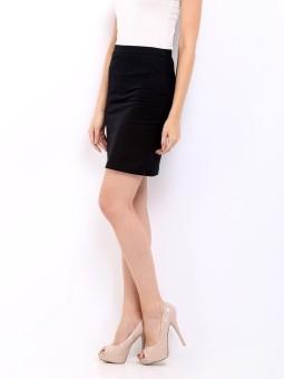 Cottinfab Solid Women's Straight Skirt: Skirt