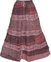 Indiatrendzs Printed Women's A-line Brown Skirt