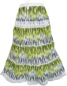 Indiatrendzs Printed Women's A-line Green, White Skirt