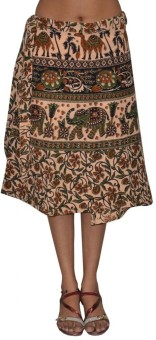 Pezzava Printed Women's Wrap Around Skirt - SKIE355ZG6Q5ZUEK