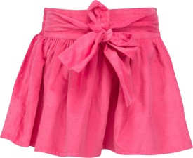 Buttercups Solid Girl's A-line Pink Skirt