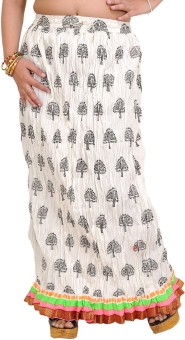 Exotic India Printed Women's A-line Skirt
