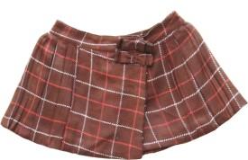 My Little Lambs Checkered Girl's Wrap Around Skirt