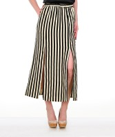 Yepme Striped Women's A-line Skirt