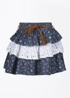 Nauti Nati Printed Girl's Layered Skirt