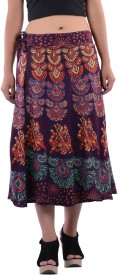 Indi Bargain Printed Women's Wrap Around Skirt