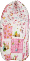 Wonderkids Pink Teddy Print Baby Carry Nest Sleeping Bag (Pink)