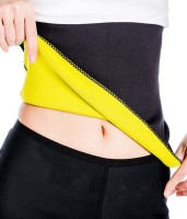 J & D SALES Original Hot Shaper Black Slimming Belt (Black)