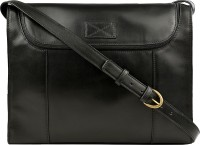 Hidesign Men Black Genuine Leather Messenger Bag