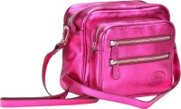 Valentino Women Casual Pink Genuine Leather Sling Bag