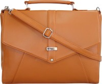 Toteteca Bag Works Women Tan Leatherette Sling Bag