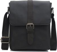 Urban Forest Men Casual Black Genuine Leather Sling Bag