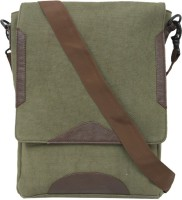 Protrude Men Casual Green Canvas Sling Bag