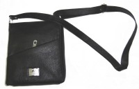 Starco Genuine Leather Sling Bag (Black)